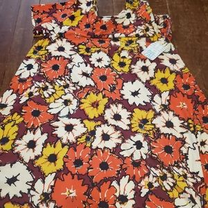 Bnwt lularoe 2xl Fall floral leggings  carly